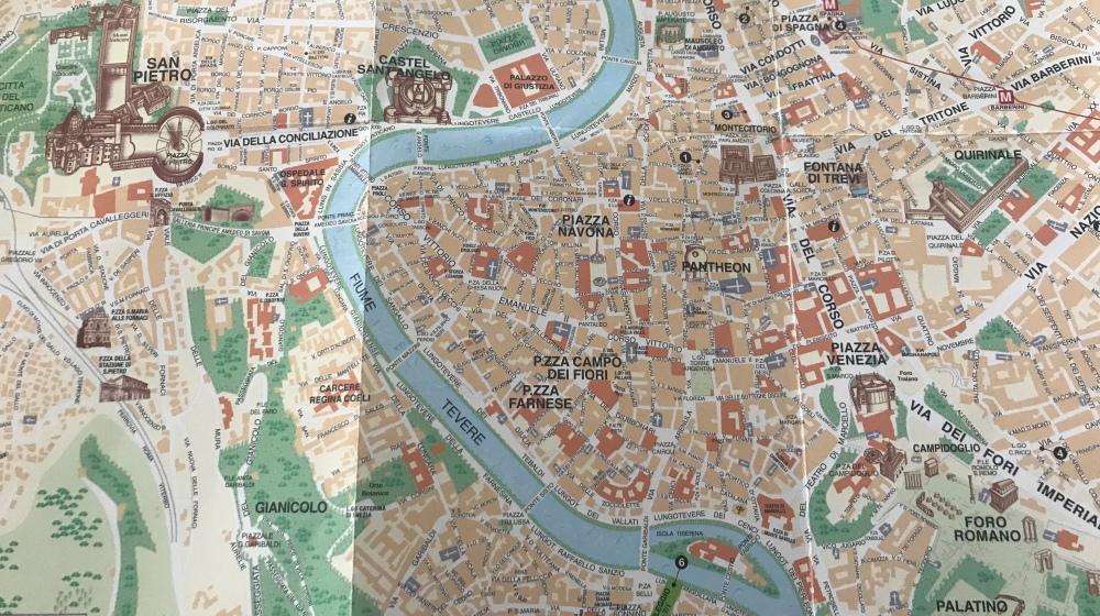 Perinteinen paperinen kartta
